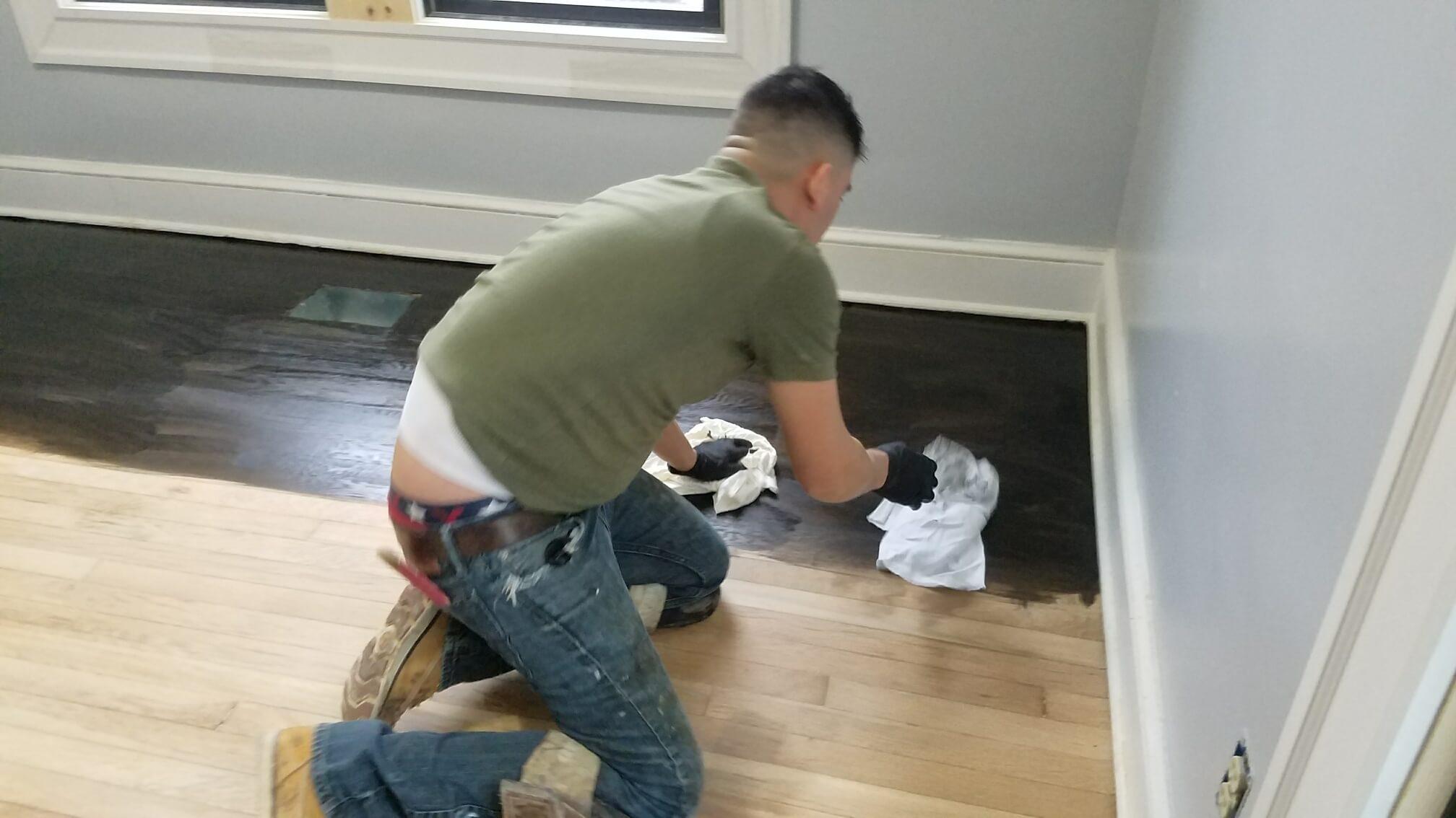 Hardwood Floor Refinishing Arlington VA staining