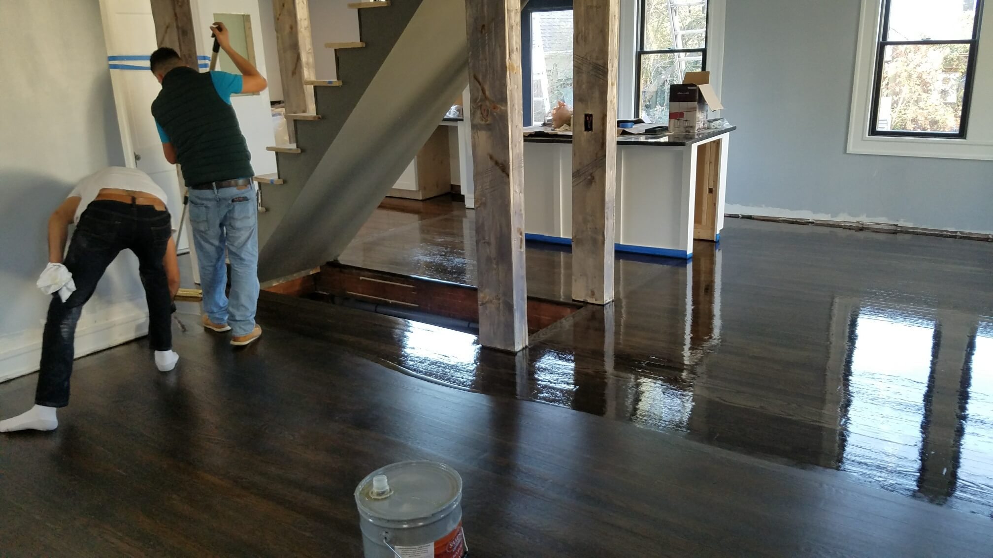 Hardwood Floor Refinishing Arlington VA stairs